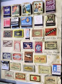 Vintage / antique Matchbox Label Collection - over 85 pieces 1940's - 1960's