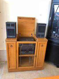 Wooden hifi cabinet