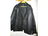 Men leather jacket, size XXL