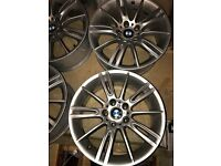 Nice condition BMW M SPORT E90 3 SERIES 18 INCH 4xALLOY WHEELS