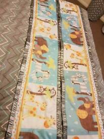 Breathable cot bumpers