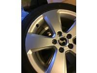 "Audi 17"" alloys with tyres x4"
