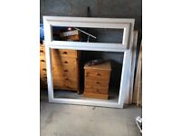 Large white, PVC window