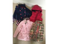 Girls jackets/gilets bundle for sale (size 3-5 years old)
