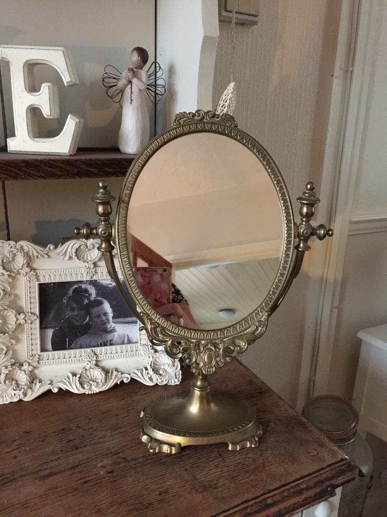 Lovely old vintage freestanding mirror