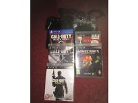 PS3 with Cod 2cod 3 mw mine craft and hit man