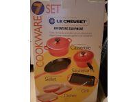 NEW le creuset cookware 7 set