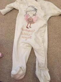 Mummy little angel sleepsuit 3-6 months