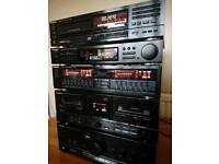 Technics stereo stacking system (SU-X102 amp)