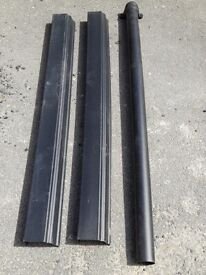 Cast iron effect ogee gutter and down pipe Useful lengths Downpipe has conector on one end. Offcuts.
