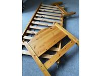 Single Pine Bed 2ft 6 ( great for small bedroom or toddler bed) £25!!!