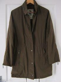 Ladies brown waterproof jacket size small