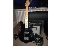 Kids guitar and amp