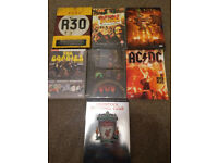 3 x (2 DISC RUSH DVDS) & ACDC FOR SALE, (plus LFC/Porqupine Tree and Goodies DVD: