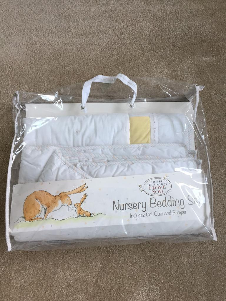 Guess How Much I Love You Nursery Bedding Set Includes Quilt And Per