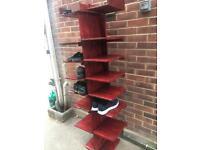 Elm wood shoe tower rack