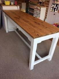 Painted pine Wooden table