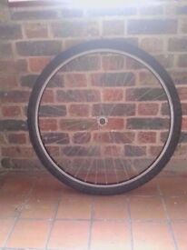 Bicycle complete front wheel 700c hybrid city bike trekking expedition plus good tyre excellent cond