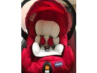 Chicco baby car seat used 3 times (can deliver)🚚