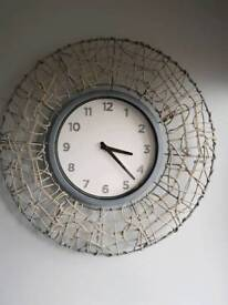 Dunelm Clock& matching mirror