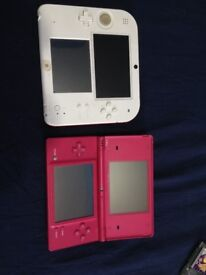 NINTENDO RED/WHITE 2DS & PINK DSi FAULTY BUNDLE