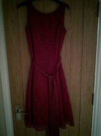 Red lace occasional dress size 8