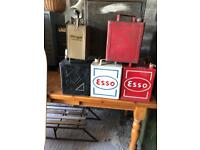 Five Vintage 1940's Fuel and Paraffin Metal Cans