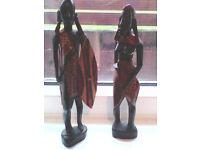 2 Vintage African Masia figures