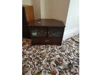 tv cabinet mahogany colour good as new living room lounge bedroom furniture