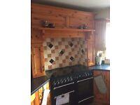 Extensive kitchen units including Rangemaster cooker & integrated tall fridge