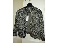 Ladies Black and grey waist length size 12 jacket