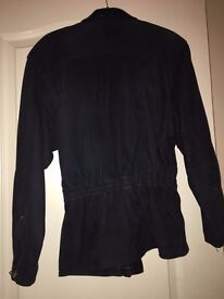 Ladies Suede and Leather jacket in Navy