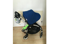 Bugaboo Bee Plus Pushchair Single Seat Stroller/Buggy + raincover + footmuff +buggy board maxi