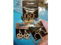 assorted diamante earing