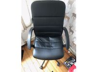 Ikea Bekant Adjustable Desk (Right Hand Corner) and Leather Chair