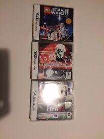 Games for Nintendos DS, Star Wars, Fifa 07, Alex Rider
