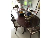 Christmas extending dining table & 6 chairs