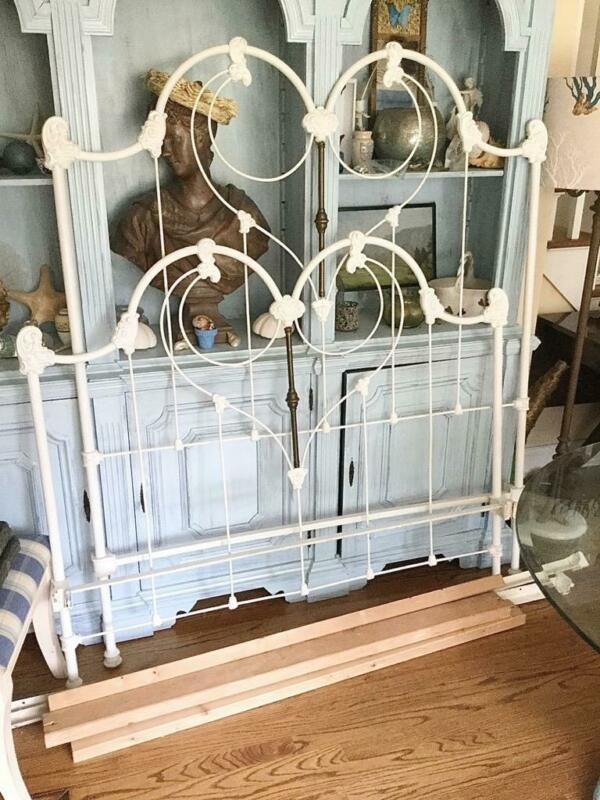 PRE WW1 VICTORIAN DOUBLE  CAST IRON BED fr Cathouse beds Malibu- paid $2650 1999