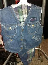 Jeans and waist coat set