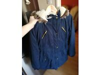 12-13 years dark blue jacket parka
