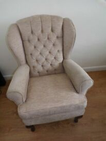 CAN DELIVER - HIGH BACK CHAIR IN VERY GOOD CONDITION