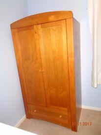 Nursery furniture set; Henley babies r us Cot/toddler bed, Dresser/changer, wardrobe.