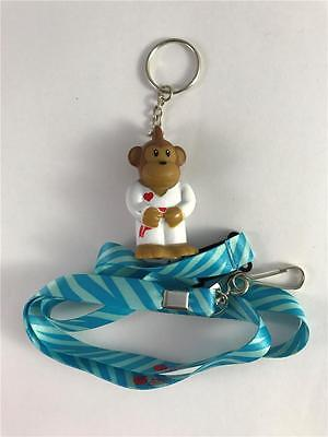 New American Heart Association Zoo Crew Monkey  Jenny Kicks Keychain   Lanyard