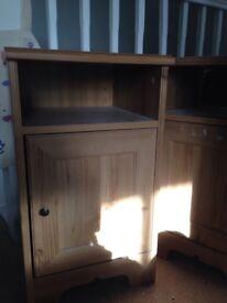 Ikea pine bedside Caninets x2