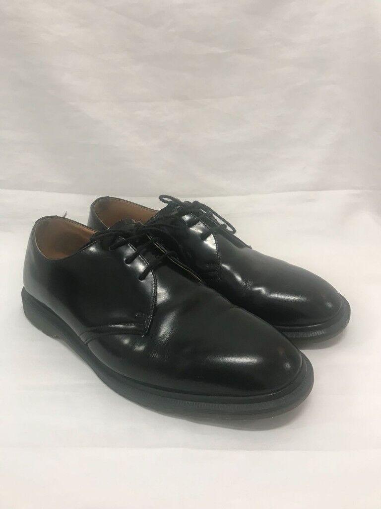 useita värejä tukkukauppa virallinen myymälä Dr Martens Archie 3-eye Black Polished Smooth Leather Shoes UK7 | in Manor  House, London | Gumtree