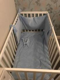 Vib white cot with mattress