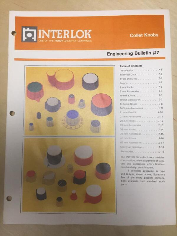 1981 Interlok Catalogs ~ Collet Knobs Cases Cabinets Panels Leads Card Frames