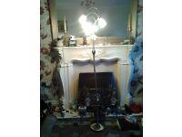 Brushed crome floor lamp