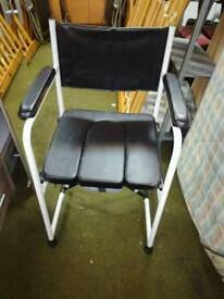 Deluxe fold away camode chair