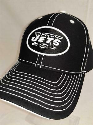 New York Jets Adult Mens Unisex Adult Size OSFA Black Adjustable NFL Cap Hat
